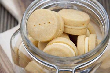Photograph of Custard Creams baked by Jane.