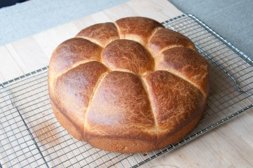 Photograph of Brioche baked by Jane.