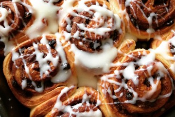 Photograph of Christmas Buns baked by Jane.