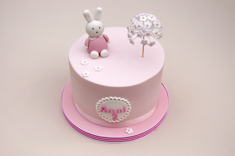 Pink Miffy Bunny Birthday Cake Baked By Jane