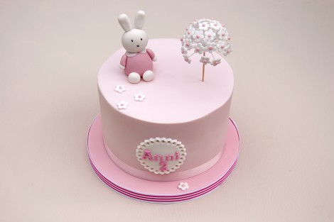 Fine Pink Miffy Bunny Birthday Cake Baked By Jane Personalised Birthday Cards Paralily Jamesorg