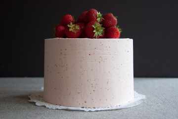 Photograph of Strawberry Cake baked by Jane.