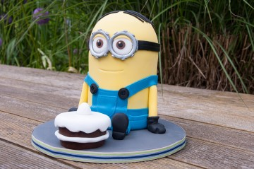 Photograph of Minion Birthday Cake baked by Jane.