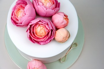 Photograph of Peony Cake baked by Jane.