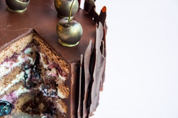 Photograph of Black Forest gateau baked by Jane.