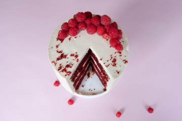 Photograph of Red Velvet Cake baked by Jane.