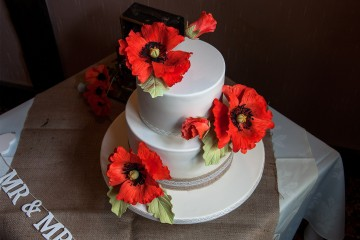 Photograph of Poppy Wedding Cake baked by Jane.