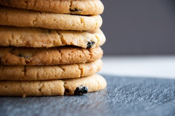 Photograph of Blueberry and White Chocolate Cookies baked by Jane.