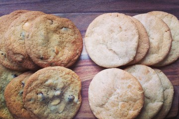 Photograph of Cranberry and Snickerdoodle Cookies baked by Jane.