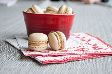 Photograph of Peanut Butter Macarons baked by Jane.