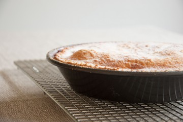 Photograph of Apple and Blackberry Pie baked by Jane.