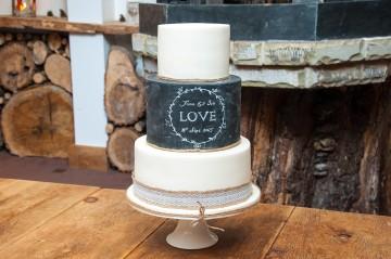 Photograph of Blackboard Wedding Cake baked by Jane.